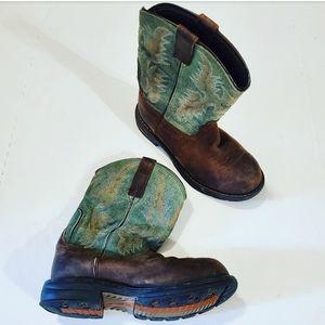 Ariat Green & Brown Waterproof Composite Toe Boots